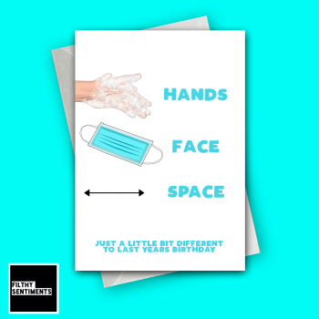 HANDS FACE SPACE CARD