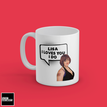 I LOVES YOU I DO NESSA PERSONALISED MUG