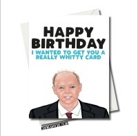 CHRIS WHITTY BIRTHDAY COVID  CARD - FS1218