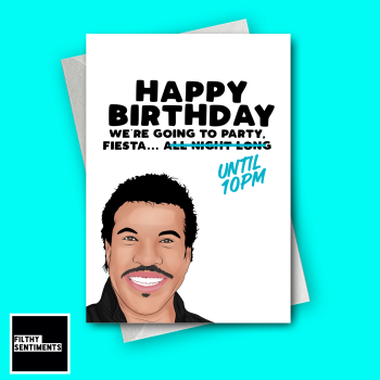 LIONEL 10PM BIRTHDAY CARD - FS1216