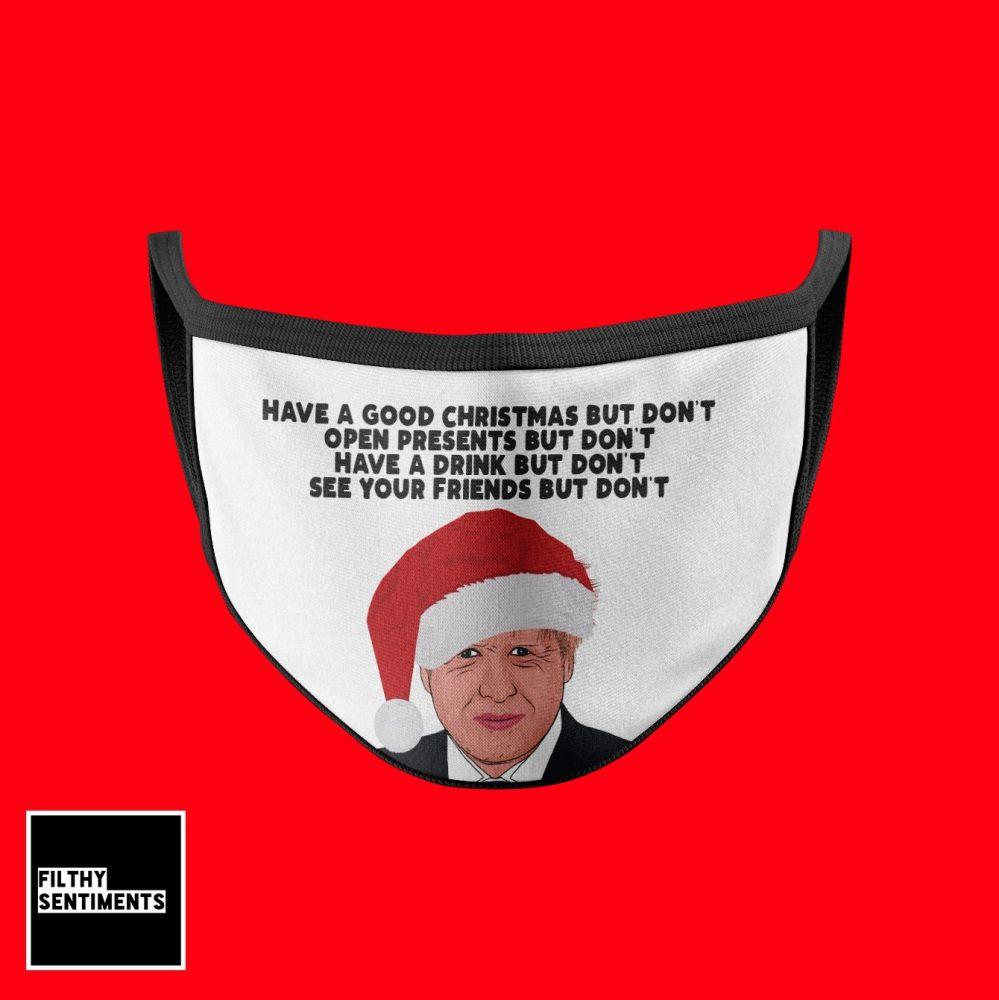 CHRISTMAS BORIS FACE MASK