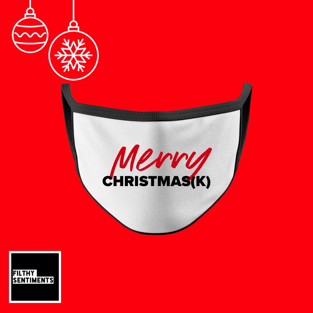 MERRY CHRISTMAS(K) FACE MASK