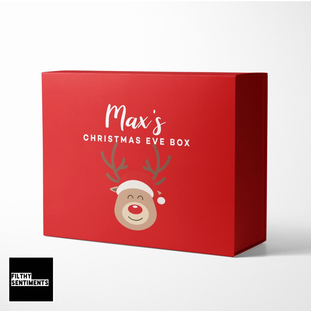 PERSONALISED REINDEER CHRISTMAS EVE BOX