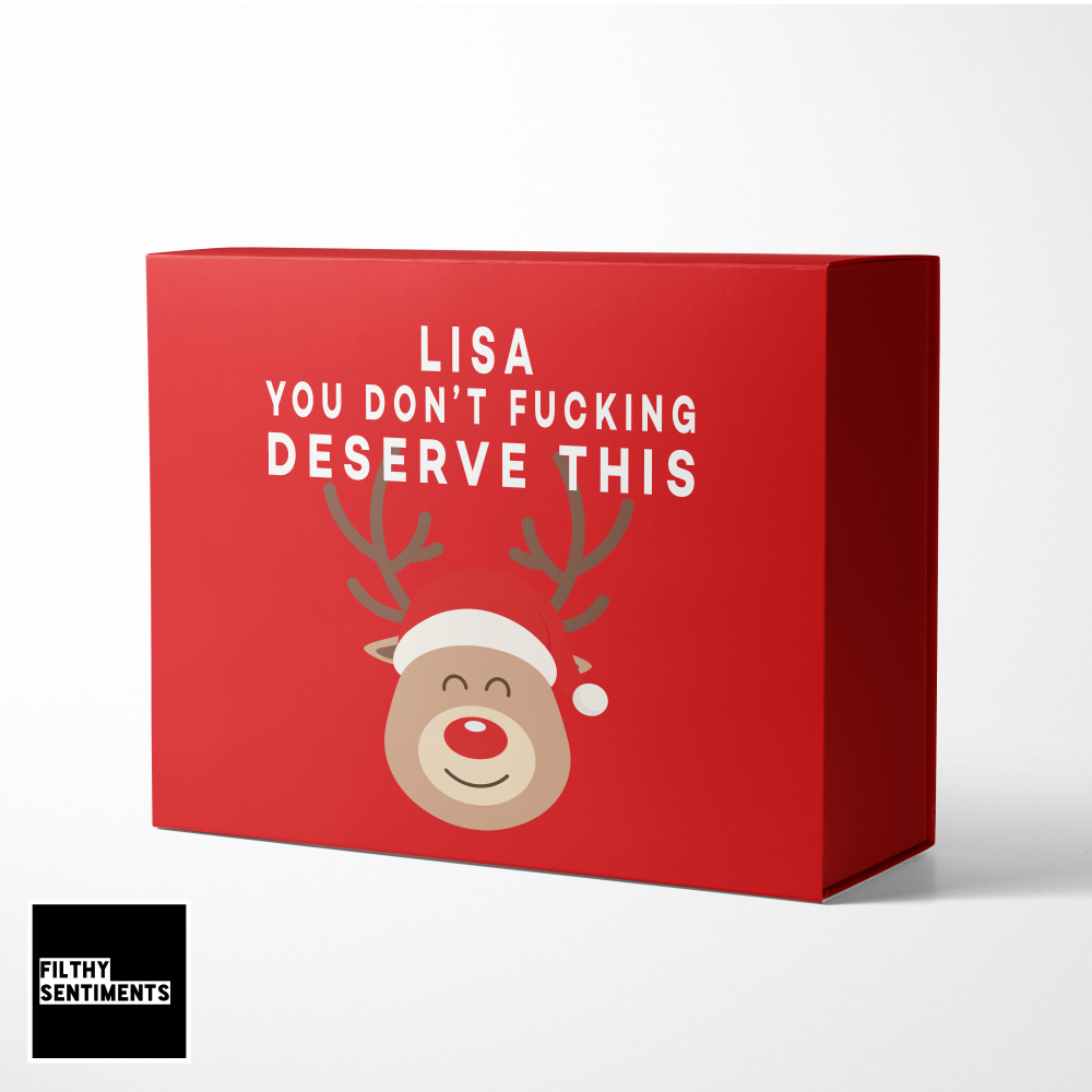 YOU DON'T DESERVE THIS CHRISTMAS EVE BOX