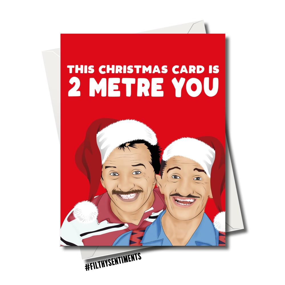 CHUCKLE 2 METRE CHRISTMAS CARD