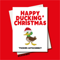 DUCKING CHRISTMAS CARD FS1242