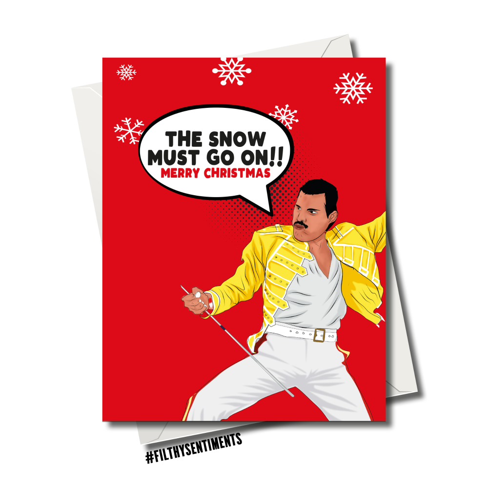 FREDDIE SNOW CHRISTMAS CARD