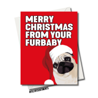 FURBABY CHRISTMAS CARD 1267