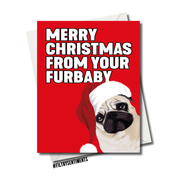 FURBABY CHRISTMAS CARD 1267