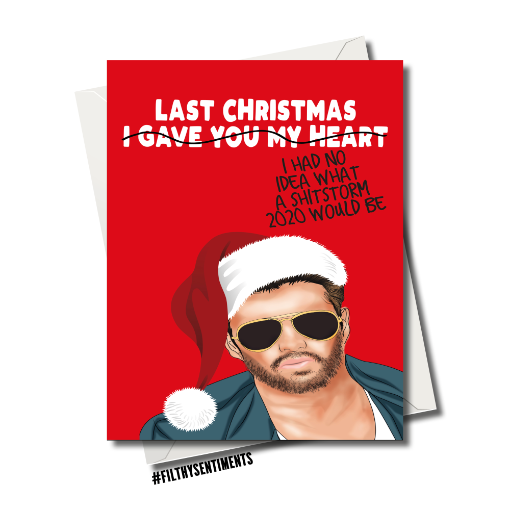 GEORGE LAST CHRISTMAS CHRISTMAS CARD