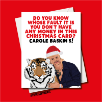 NO MONEY IN YOUR CARD TIGERKING CHRISTMAS CARD - FS1237