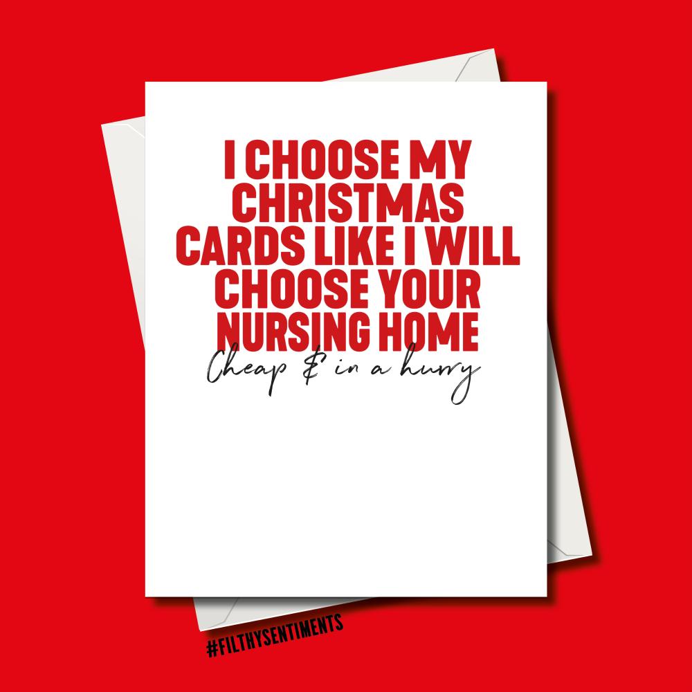 PARENTS NURSING HOME CHRISTMAS CARD
