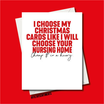 PARENTS NURSING HOME CHRISTMAS CARD - FS1230