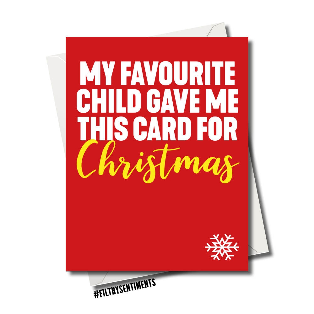 FAVOURITE CHILD CHRISTMAS CARD