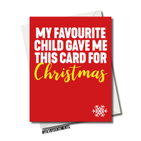 FAVOURITE CHILD CHRISTMAS CARD - FS1254
