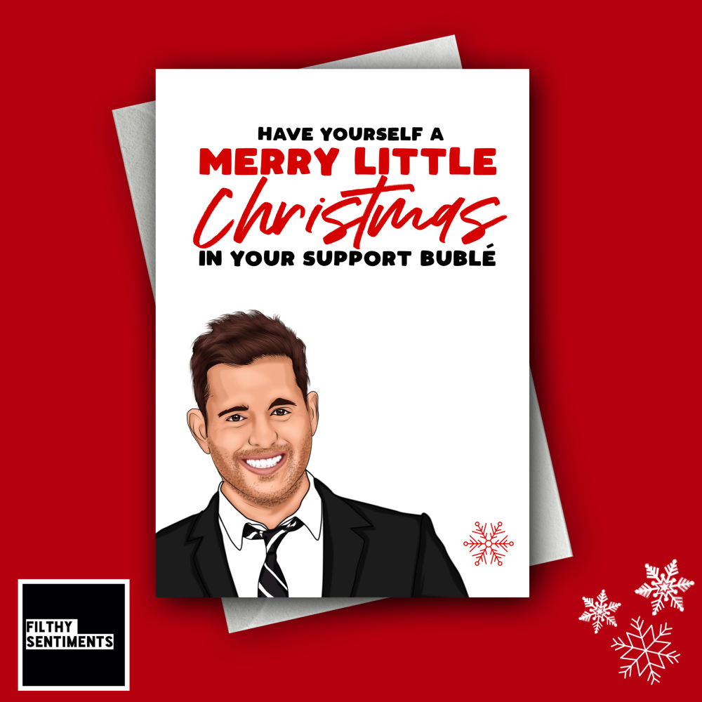 SUPPORT BUBLE CHRISTMAS CARD