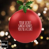 Christmas Bauble Decoration - Red Secret Santa