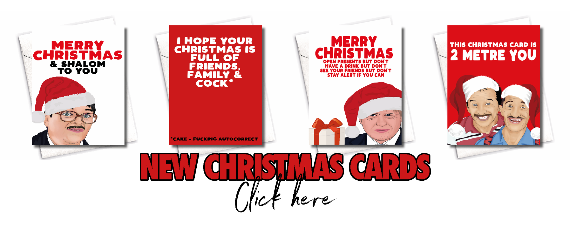 XMAS BANNERS CARDS