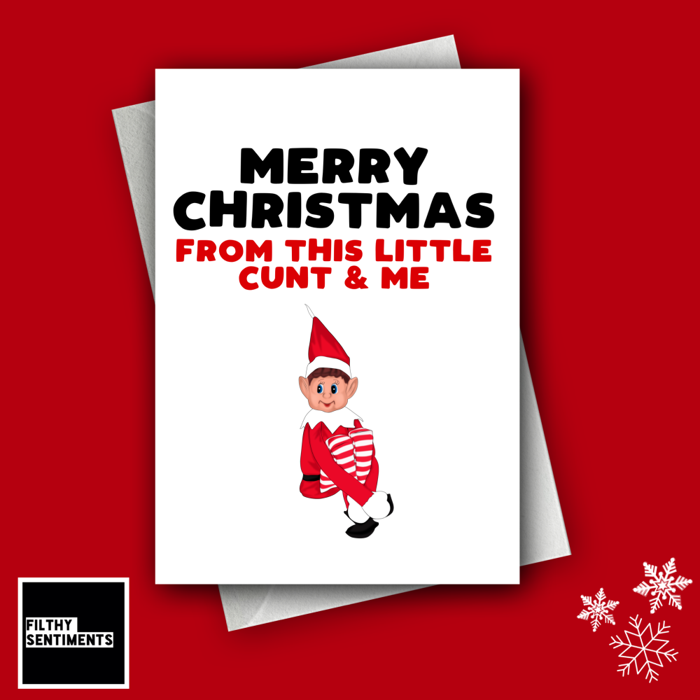 ELF ON THE SHELF CHRISTMAS CARD FS1246