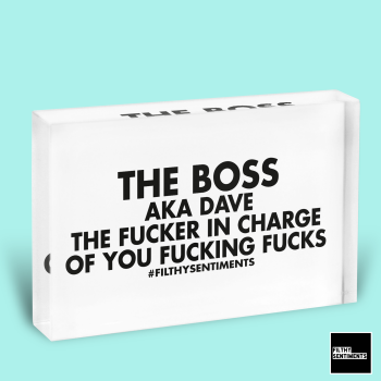 BOSS IN CHARGE GLASS BLOCK - GB001