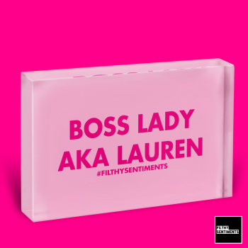 BOSS LADY GLASS BLOCK - GB002