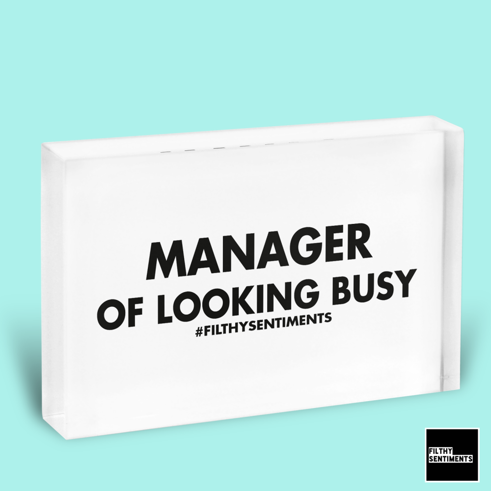 BUSY MANAGER GLASS BLOCK - GB005