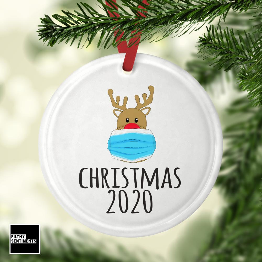 Glass Bauble - Reindeer 2020