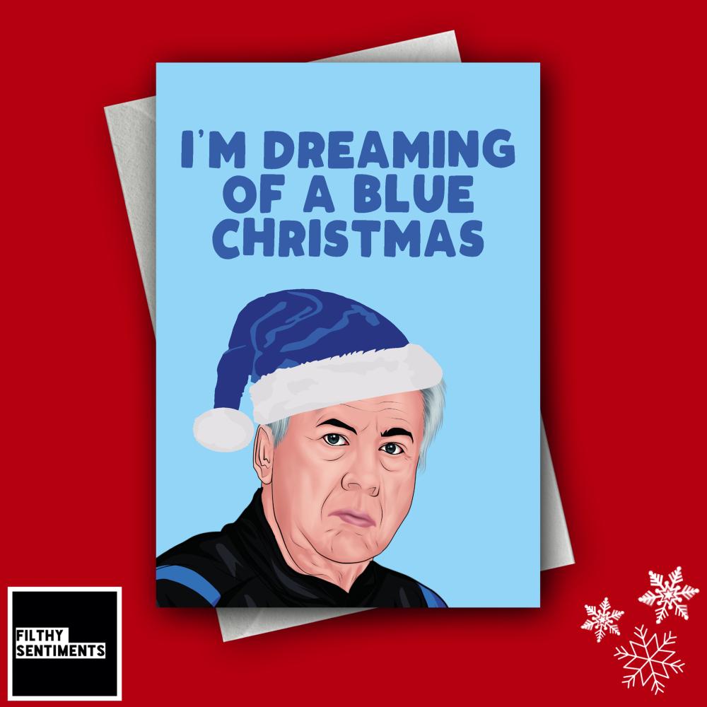 ANCELOTTI BLUE CHRISTMAS CARD - FS1262