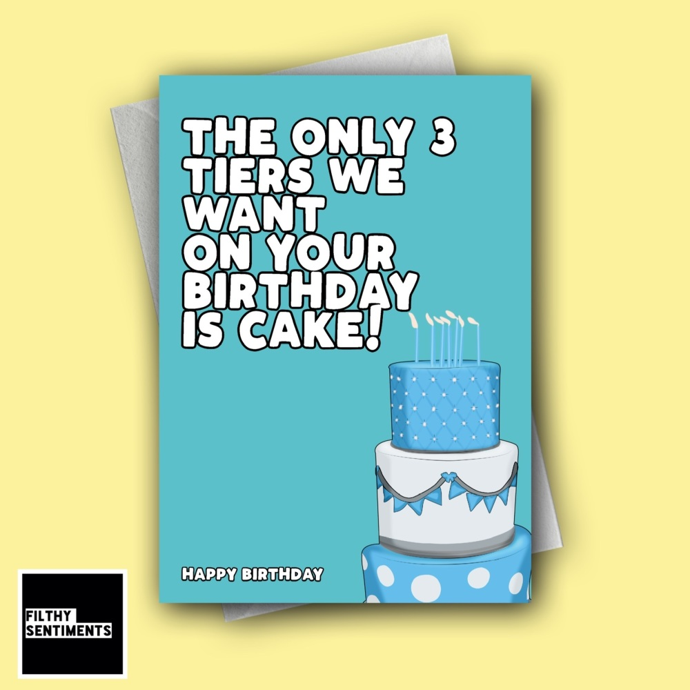 BIRTHDAY 3 TIER CAKE CARD - FS1265