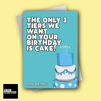 BIRTHDAY 3 TIER CAKE CARD - FS1265