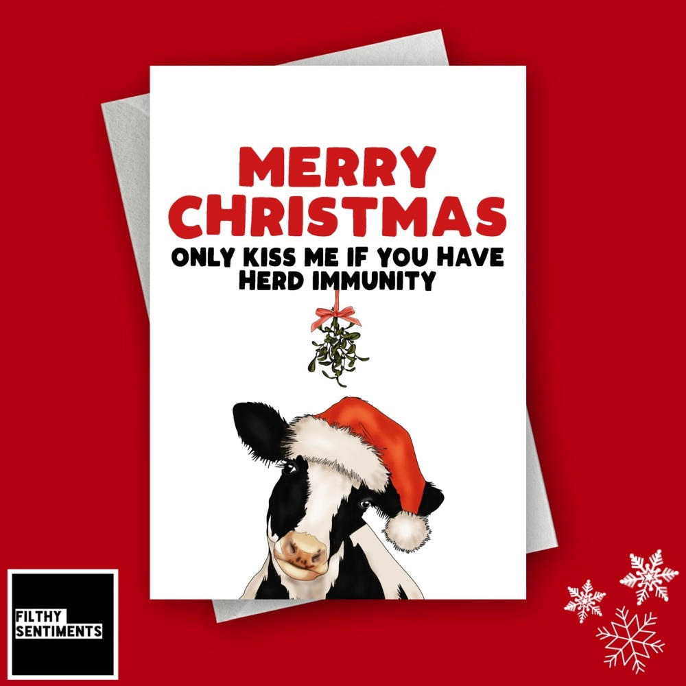 HERD IMMUNITY CHRISTMAS CARD FS1268