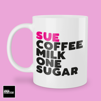 CUP OF PINK PERSONALISED MUG - 300