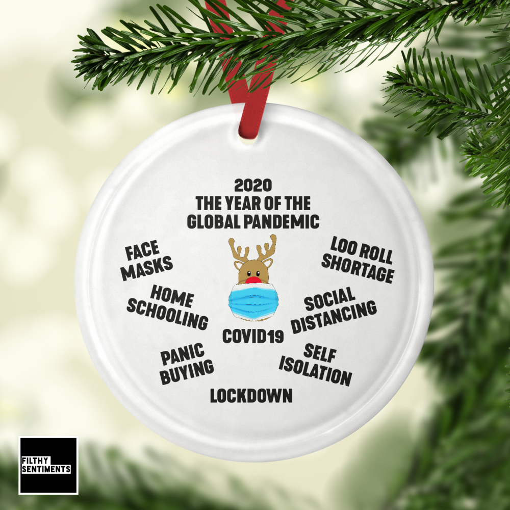 2020 COVID GLASS BAUBLE