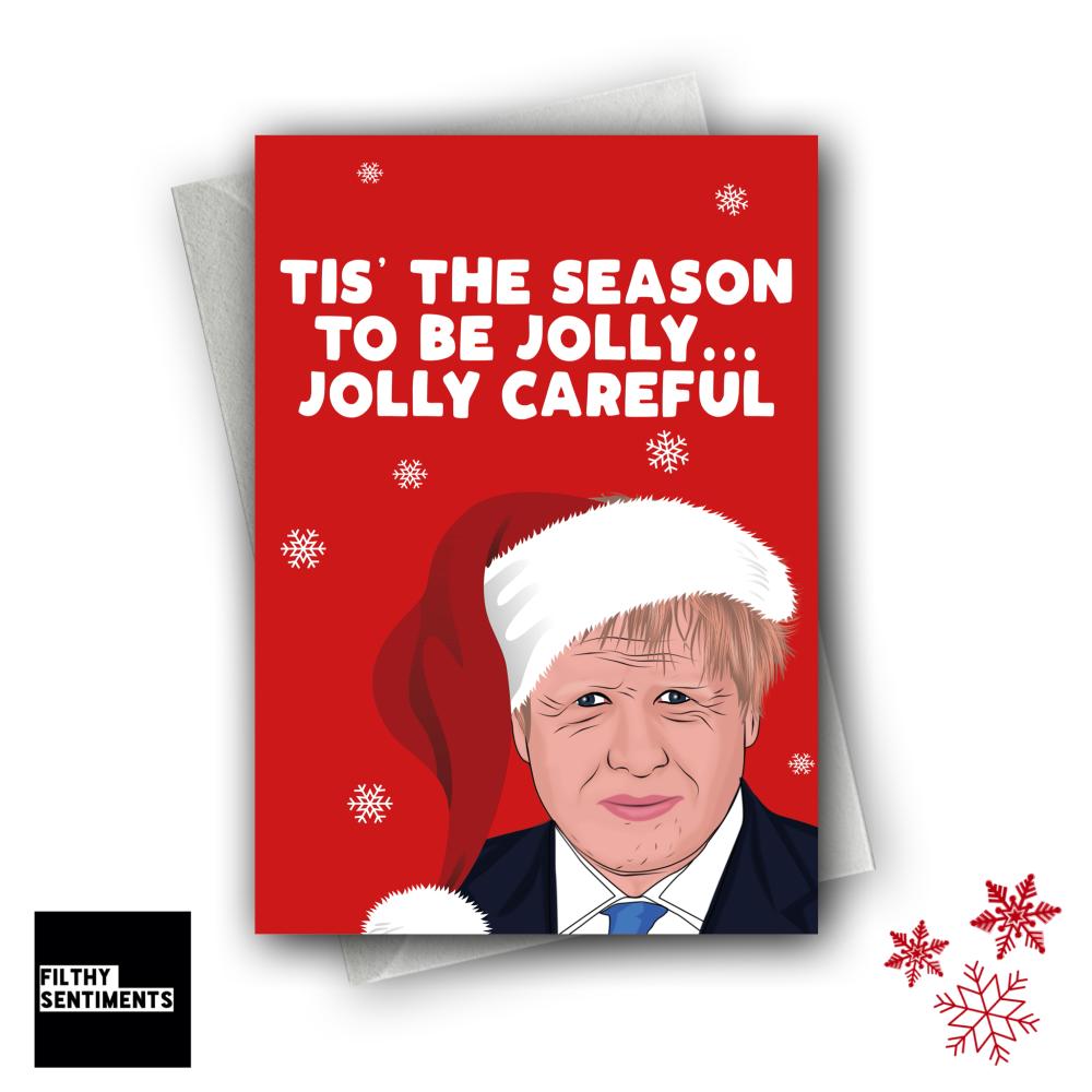 JOLLY CAREFUL CHRISTMAS CARD FS1276