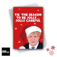 A JOLLY CAREFUL CHRISTMAS CARD FS1276