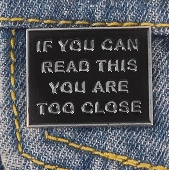 BLACK IF YOU CAN READ THIS ENAMEL PIN  BADGE