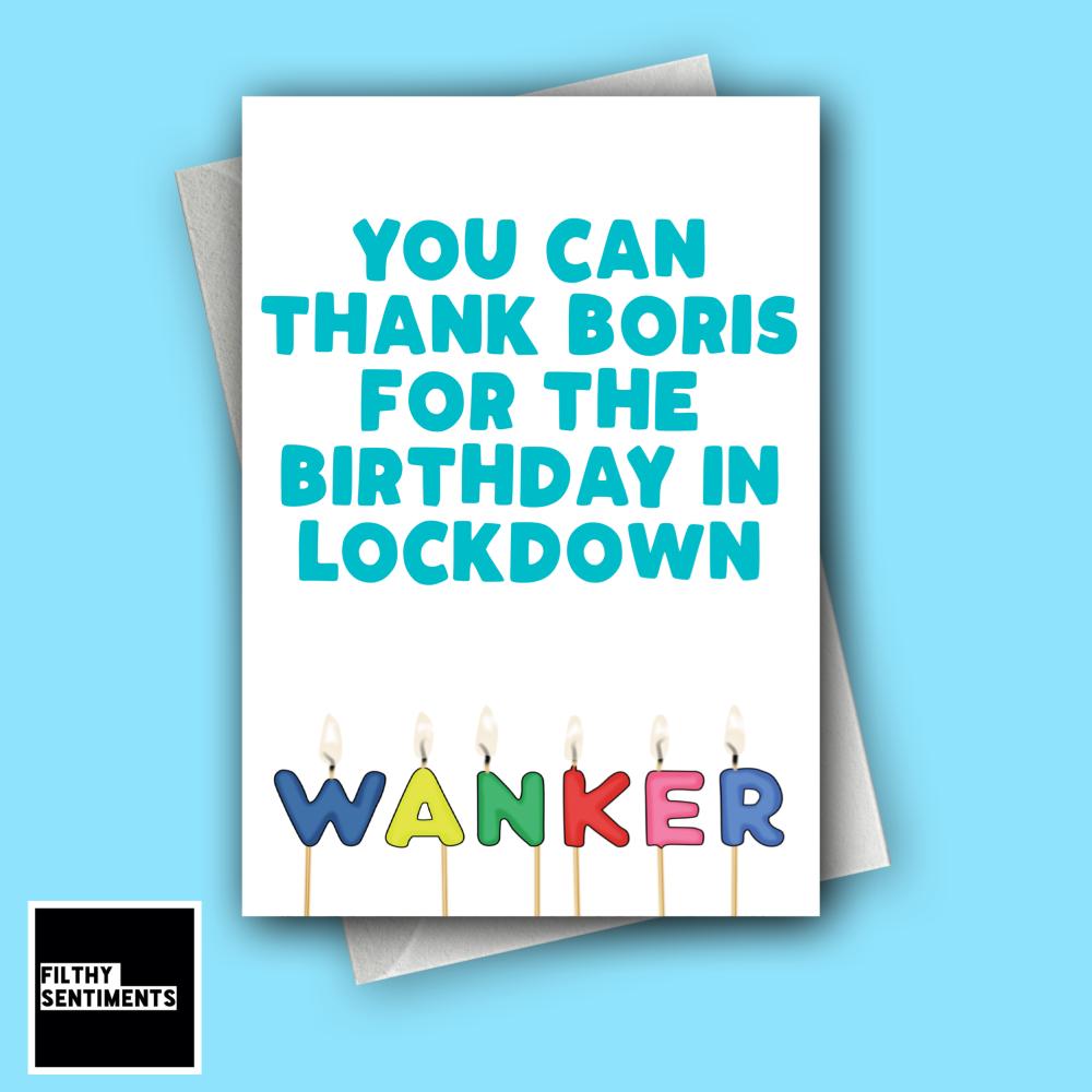 WANKER LOCKDOWN CANDLE CARD FS1282