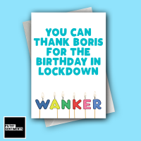 WANKER LOCKDOWN CANDLE CARD FS1282