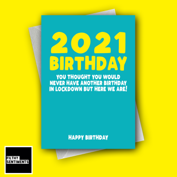 2021 BIRTHDAY TURQUOISE CARD FS1289