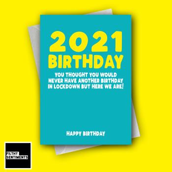2021 BIRTHDAY TURQUOISE CARD FS1289