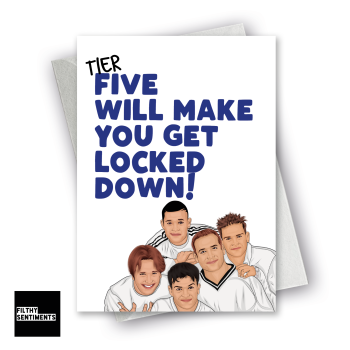 FIVE WILL MAKE YOU GET LOCKDOWN CARD - FS1295