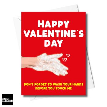 WASH HANDS VALENTINES CARD XFS0227