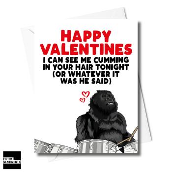 VALENTINES GORILLA CARD FOR HER - XFS0230