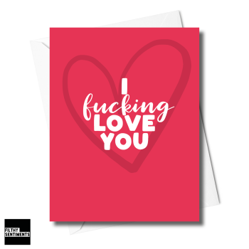 HEART LOVE YOU CARD XFS0247