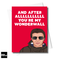 LIAM GALLAGHER WONDER WALL CARD FS1273