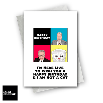 ZOOM CAT LAWYER BIRTHDAY CARD