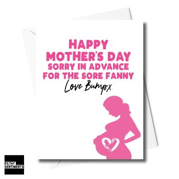 Mother's Day Baby Bump Card - XFS0215