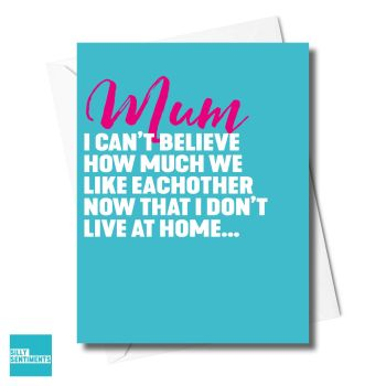 LIKED EACHOTHER MUM TURQUOISE CARD - XFS0218