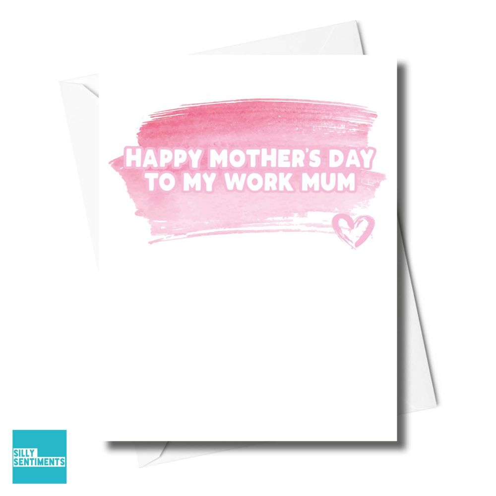 WATERCOLOUR WORK MUM CARD - XFS0199
