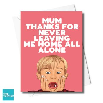 THANKS HOME ALONE CARD  -XFS0327